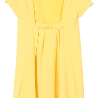 ROMWE Backless Bowknot Short Sleeves Yellow Dress