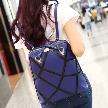 On Sale College Back To School Comfort Hot Deal Winter Ladies Korean Stylish Casual Patchwork Backpack [6582899591]