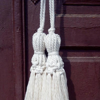 Door tassel Boho home accents Modern macrame home decor Hanging tassels Door decorations Drawer hangers Housewarming gift