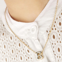 Fashion Personality English Alphabet 26 Letters Pendant Necklace For Women