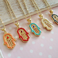 Hamsa Hand Good Luck Necklace