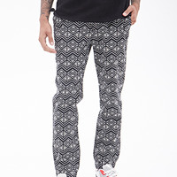 Geo Print Woven Joggers