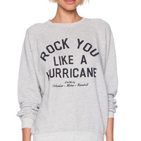 Junk Food Rock You Sweatshirt in Gray