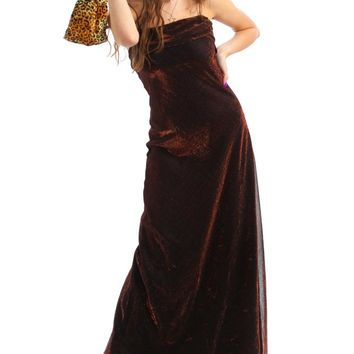 Vintage 90's Copper Illusions Maxi Dress - XS