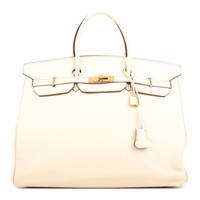 HERMES BIRKIN 40 PARCHEMIN BAG