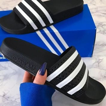 Adidas Casual Women Stripe Sandal Slipper Shoes