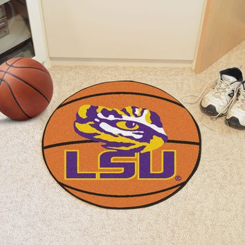 "LSU Basketball Mat 27"" diameter"