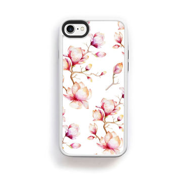 Apple blossoms on white for iPhone 7