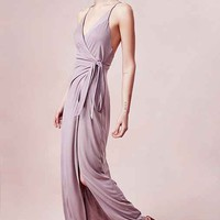 Silence + Noise Rock Ridge Wrap Maxi Dress