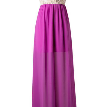 Subtle Sparkle Maxi Dress - Orchid