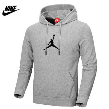 NIKE AIR JORDAN autumn and winter sports basketball training clothes hooded sweater Grey