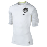 Nike Pro Core Compression Vaporizer 1/2-Sleeve Men's Football Shirt Size XXL (White)