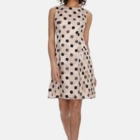 Women's Donna Morgan Polka Dot Chiffon Fit & Flare Dress,