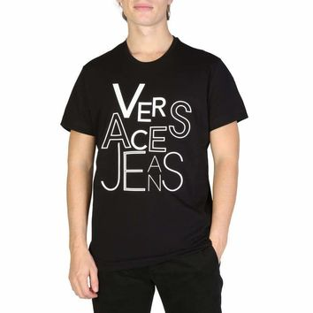 Versace Jeans Men Black T-shirts