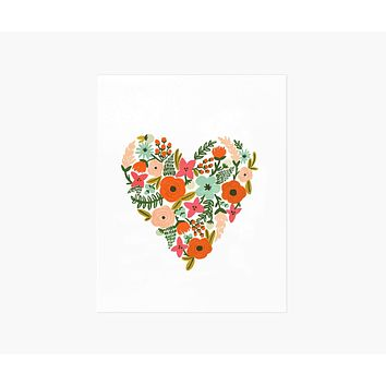 Floral Heart Print