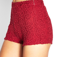 Floral Lace Woven Shorts