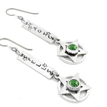 Silver Dangle Earrings - Wiccan
