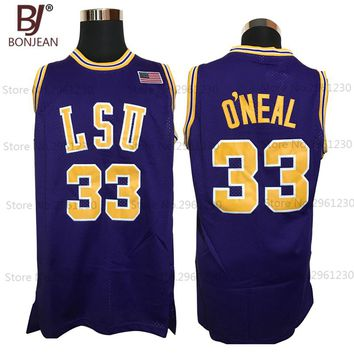 33# Shaq O'NEAL COLE High School Basketball Jersey Throwback Shirts