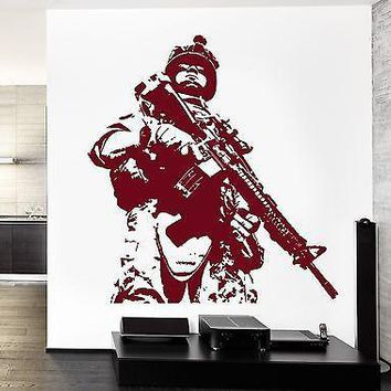 Wall Vinyl US Soldier Marine Army Military Guaranteed Quality Decal Unique Gift (z3428)