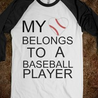my heart belongs to a baseball player *original - The Sunshinee Shop