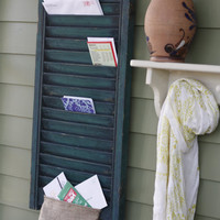 Salvaged Shutter Custom Mail Organizer 16 x 29 by WeWhoWander