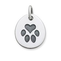 Heart Paw Pet Tag Charm | James Avery