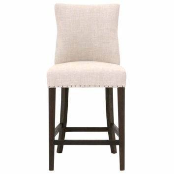 Upholstered Counter Stool, Rustic Java Brown
