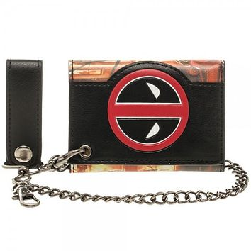 Marvel Deadpool Fire Chain Wallet