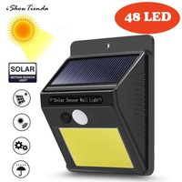 48 LED Solar Powered Wall Light Motion Sensor Outdoor Garden Security Lamp Solar Power Light Installation Screw Solar Power Ligh