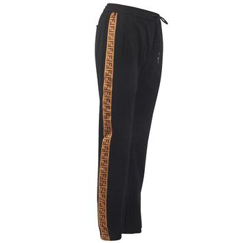 Fendi side F - ribbon sports men's bodysuits and men's tights