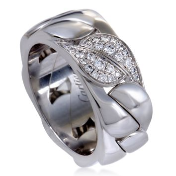 Cartier Gold Diamond Leaf Band Ring