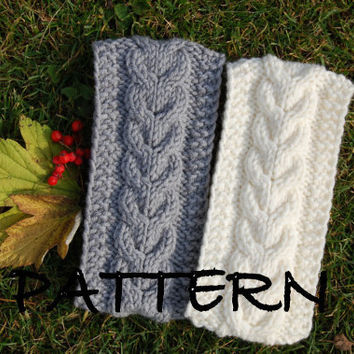 KNIITING PATTERN - Cable Knit Headband Pattern