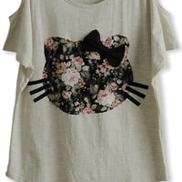 Cute Cutout Cat Tee - OASAP.com