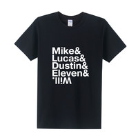 Stranger Things ampersand tee t-shirt netflix mike lucas dustin eleven will SQ12017 hwd tvi tqi