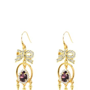 Gold Estate Jewels Chandelier Earring by Juicy Couture, No
