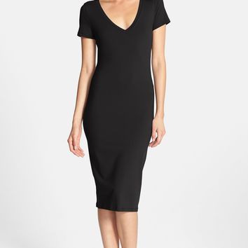 Leith V-Neck Body-Con Dress | Nordstrom