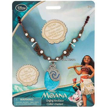 Licensed cool Authentic Disney Store REDESIGNED Princess MOANA SINGING SHELL Necklace w/ Sound