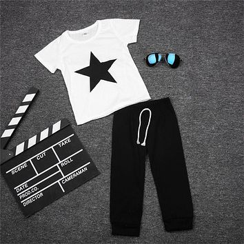 Cute!! Boy's 2Pc Set Little Star Outfit! Sizes 3 To 24 Months