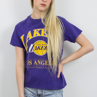 Vintage Los Angeles Lakers Basketball NBA T Shirt