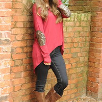 Hidden Treasures Sweater: Red