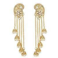 Indian Gold Necklace & Jhumka Earrings
