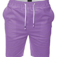 Purple Diamond Designer Summer Shorts