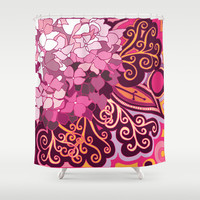 Hortensia_rose Shower Curtain by /CAM