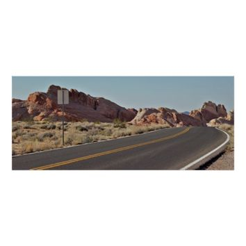 Valley of Fire Scenic Highway Poster