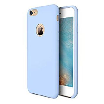 iPhone 7 Case, TORRAS [Love Series] Liquid Silicone Gel Rubber iPhone 7 Shockproof Case with Soft Microfiber Cloth Lining Cushion (2016)-Light Blue