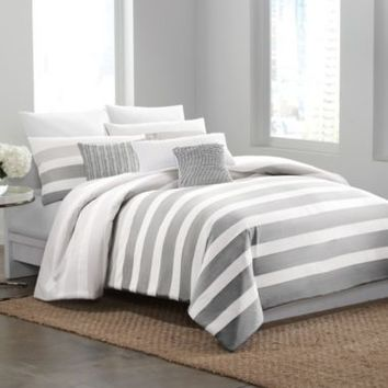 DKNY® Highline Grey Duvet Cover
