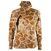 Giraffe Pattern Juniors Zip Jacket