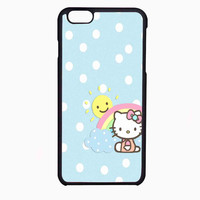 hello kitty polka rainbow FOR IPHONE 6 CASE NEWEST **