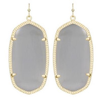 Kendra Scott Elle Earrings - Slate Grey & Gold