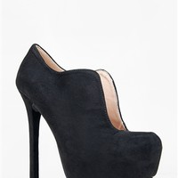 Qupid MIRIAM-95 U-Cut Collar Ankle Bootie